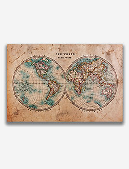 World Map Canvas | Get Next Day Delivery | Zippi on