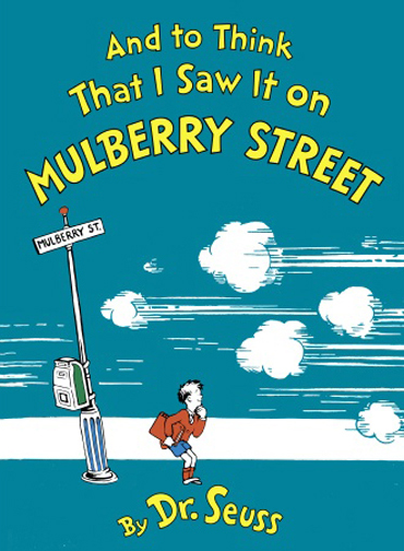 """And to Think That I Saw It on Mulberry Street"" by It is believed that the cover art can or could be obtained from the publisher.. Licensed under Fair use of copyrighted material in the context of And to Think That I Saw It on Mulberry Street via Wikipedia"