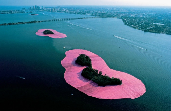 Surrounded islands by Christo and Jean-Claude