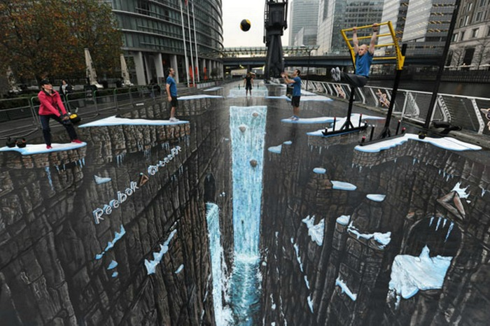 Reebok street art by 3D Max and Joe