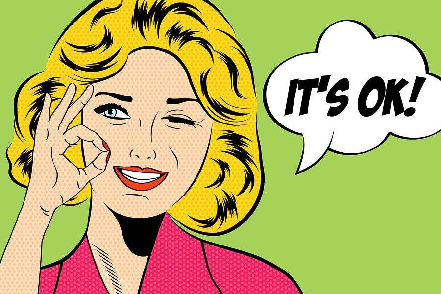 Pop Art Cute Retro Woman In Comics Style With Message