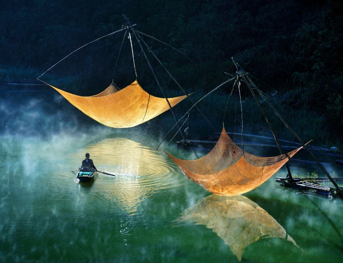Checking Fishing Net by Hoang Long Ly