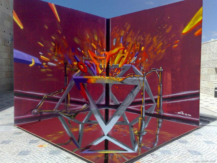 Odeith 3D Graffiti Maze-Like Artwork via The Studio