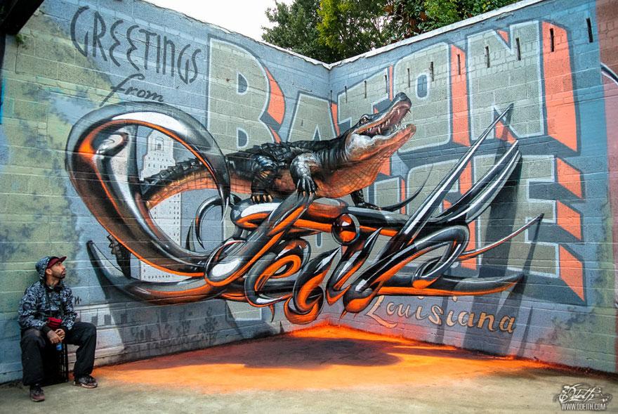 Odeith Anamorphic 3D Graffiti via The Studio