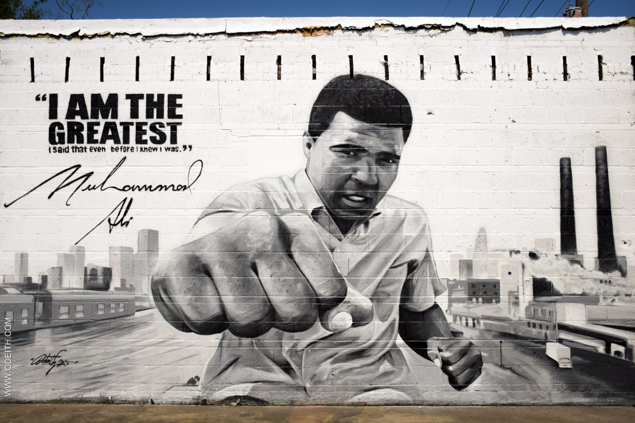 Muhammad Ali Graffiti by Artist Odeith Tribute via The Studio