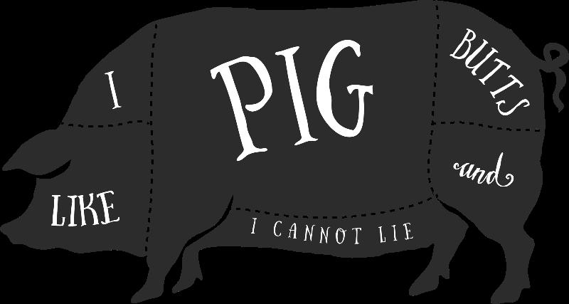 I Like Pig Butts, a mollysky design on Zippi.