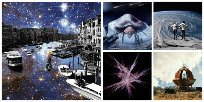 Collage of Zippi Artist Theme of the Month, Space Art