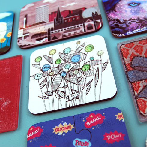 design your own coasters, custom photo coasters