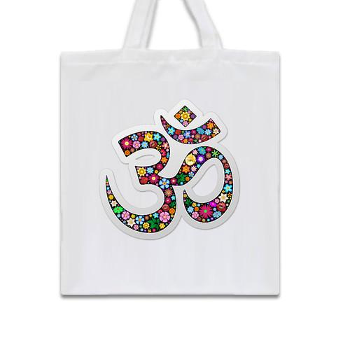 namaste-floral-symbol-tote-bag