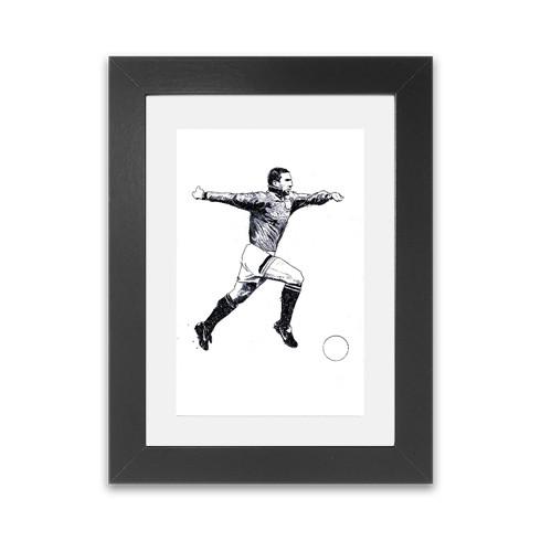 cantona-framed-print