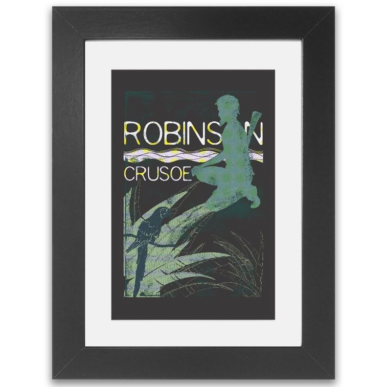 Books Robinson Crusoe Framed Print