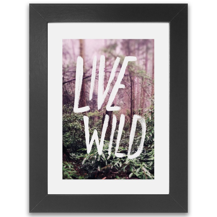 Live Wild Oregon Framed Print