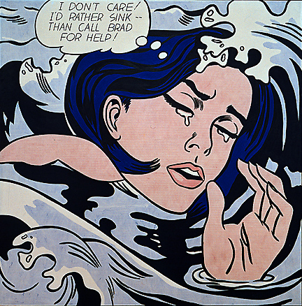 Roy Lichtenstein pop art - The Drowning Girl