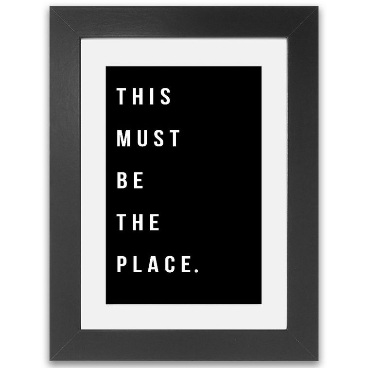 This must be the place Framed Print