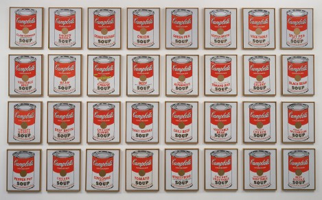 Andy Warhol's pop art - Cambpell's Soup Cans