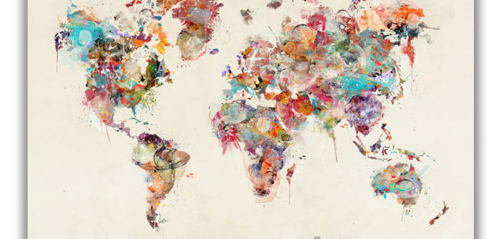 World Maps & Travel Art: August Theme of the Month