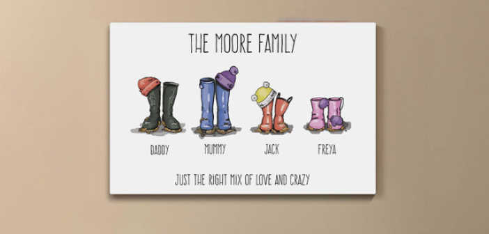 How to design the perfect piece of family welly art!